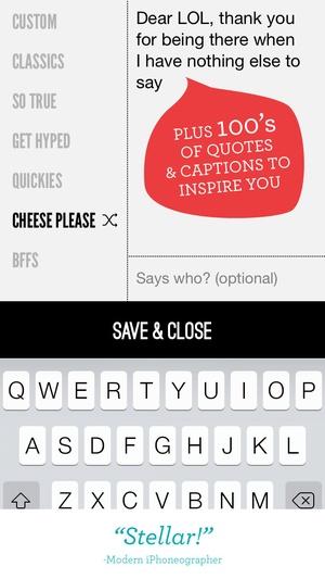 Screenshot Word Swag  on iPhone