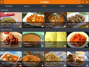 Screenshot Indian Recipes by ifood.tv on iPad