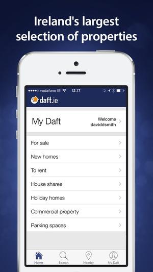 Screenshot Daft.ie on iPhone