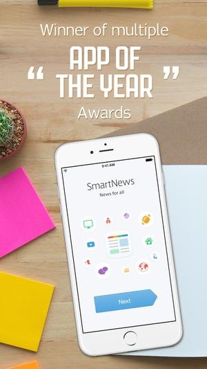 Screenshot SmartNews on iPhone