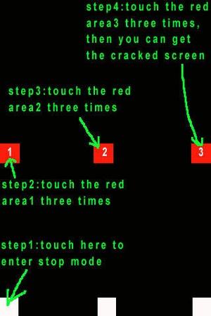 Screenshot A Funny Screen (Simulate A Broken iPhone) on iPhone