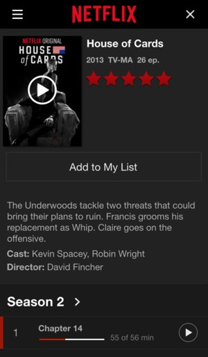 Screenshot Netflix on iPhone