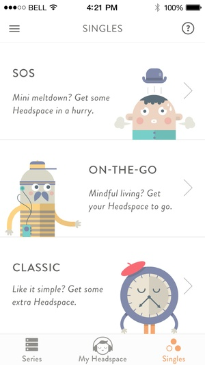 Screenshot Headspace.com on iPhone