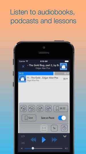 Screenshot CloudBeats on iPhone