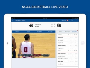 Screenshot CBS Sports on iPad
