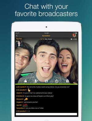 Screenshot YouNow on iPad