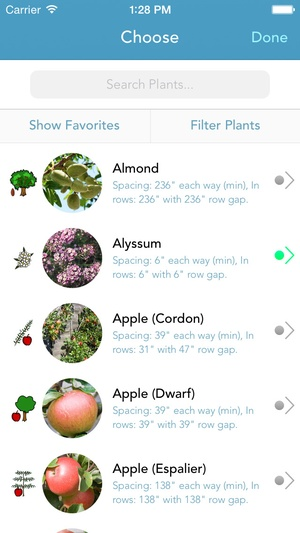 Screenshot Grow Planner (Mother Earth News) on iPhone