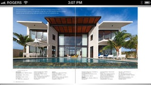 Screenshot Florida Design Magazine on iPhone