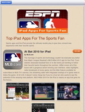 Screenshot AppAdvice on iPad