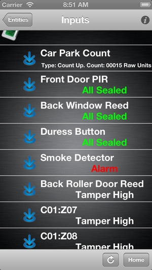 Screenshot IntegritiMobile on iPhone