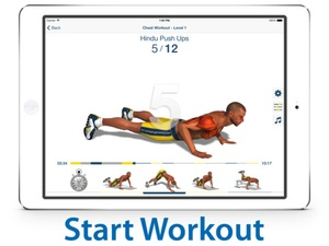 Screenshot Chest Workout: Pump it Up on iPad