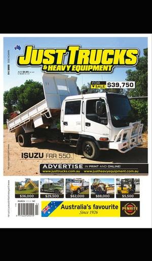 Screenshot Just Trucks Magazine on iPhone