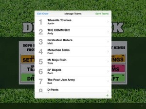 Screenshot Draft Clock on iPad