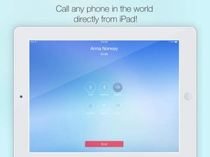 Screenshot Free Calling and Free Texting App, Cheap International Phone Calls and Messenger for iPhone, iPod and iPad by Voxofon on iPad