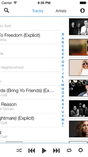 Screenshot Cloud Play for Google Music All Access on iPhone