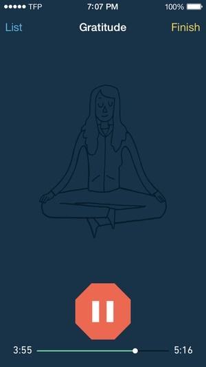 Screenshot Stop, Breathe & Think on iPhone