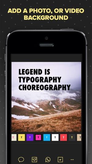 Screenshot Legend on iPhone