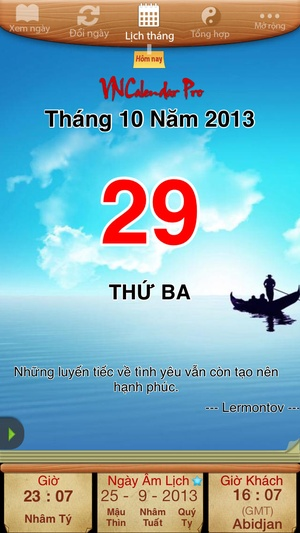 Screenshot VNCalendar Pro (Lich Van Nien & Tu Vi & Chu Ky Sinh Hoc) on iPhone