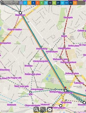 Screenshot Transit Oslo Free on iPad