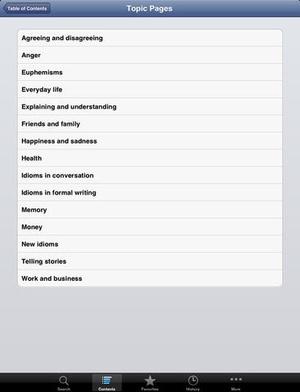Screenshot Cambridge Idioms Dictionary 2nd Edition on iPad