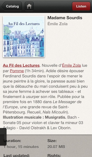 Screenshot Livres Audio on iPhone