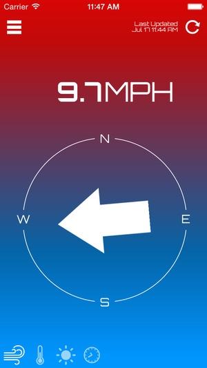 Screenshot Wind Compass on iPhone