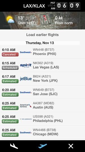 Screenshot Flightradar24  on iPhone