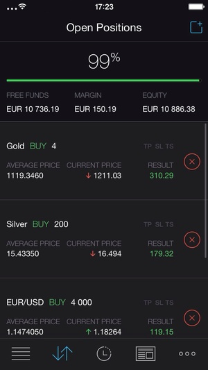 Screenshot Trading 212 FOREX on iPhone