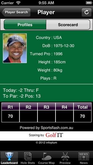 Screenshot Golf Majors World Golf on iPhone