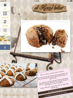 Screenshot At Home Baker on iPad