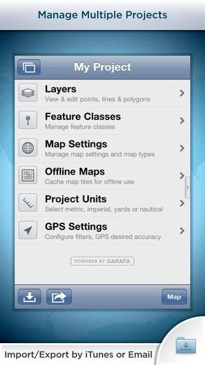 Screenshot GIS Kit on iPhone