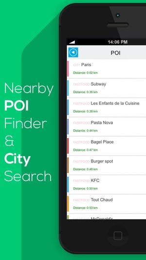 Screenshot New Zealand offline map, guide, weather, hotels. Free GPS navigation. on iPhone