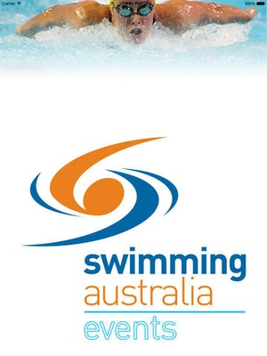 Screenshot Swimming Australia Events on iPad