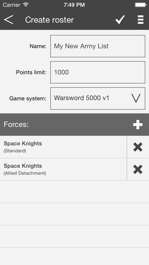 Screenshot BattleScribe Mobile Pro on iPhone