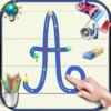 Learn to write cursive letters of the alphabet in upper and lower case with the sounds in English and French