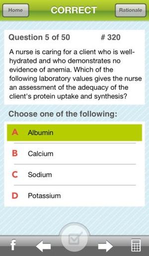 Screenshot ATI RN Mentor on iPhone
