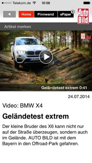 Screenshot AUTO BILD Aktuell on iPhone