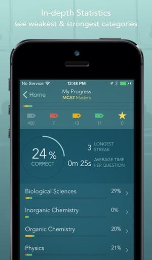 Screenshot MCAT 2015 Mastery on iPhone