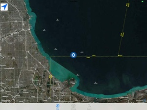 Screenshot flyguide for crew on iPad