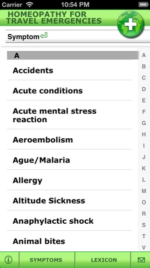 Screenshot Homeopathy for your travels on iPhone