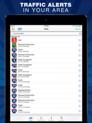 Screenshot Florida 511 on iPad