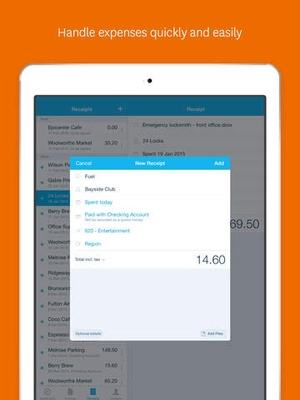 Screenshot Xero on iPad