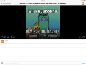 Screenshot Meme Creator/Viewer on iPad