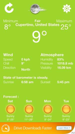 Screenshot exact weather on iPhone