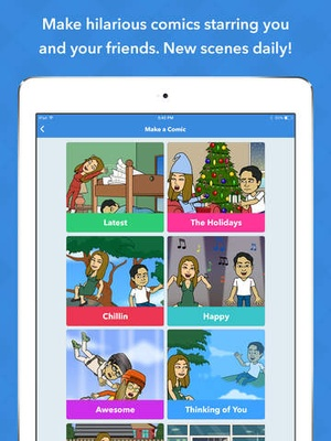 Screenshot Bitstrips on iPad
