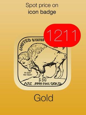 Screenshot Gold Price Watch on iPad