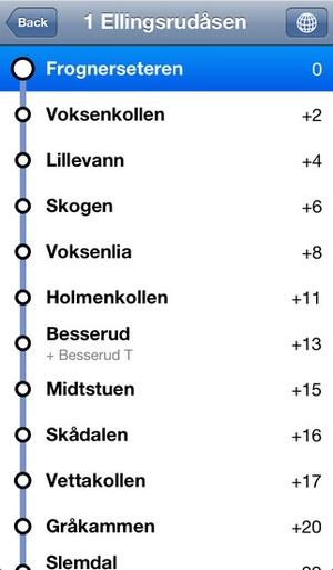 Screenshot Transit Oslo Free on iPhone