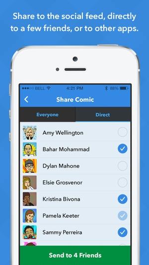 Screenshot Bitstrips on iPhone