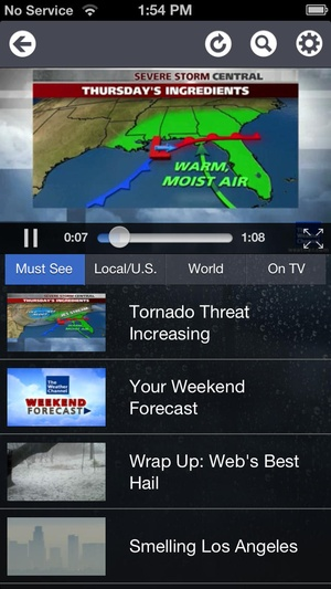 Screenshot The Weather Channel® Max on iPhone