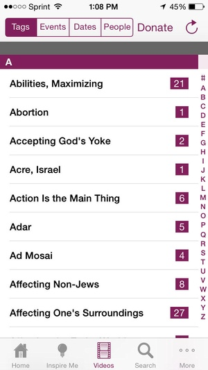 Screenshot Living Torah on iPhone